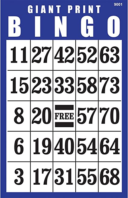 Royal Bingo Supplies 50 Blue Bingo Cards with Unique Numbers