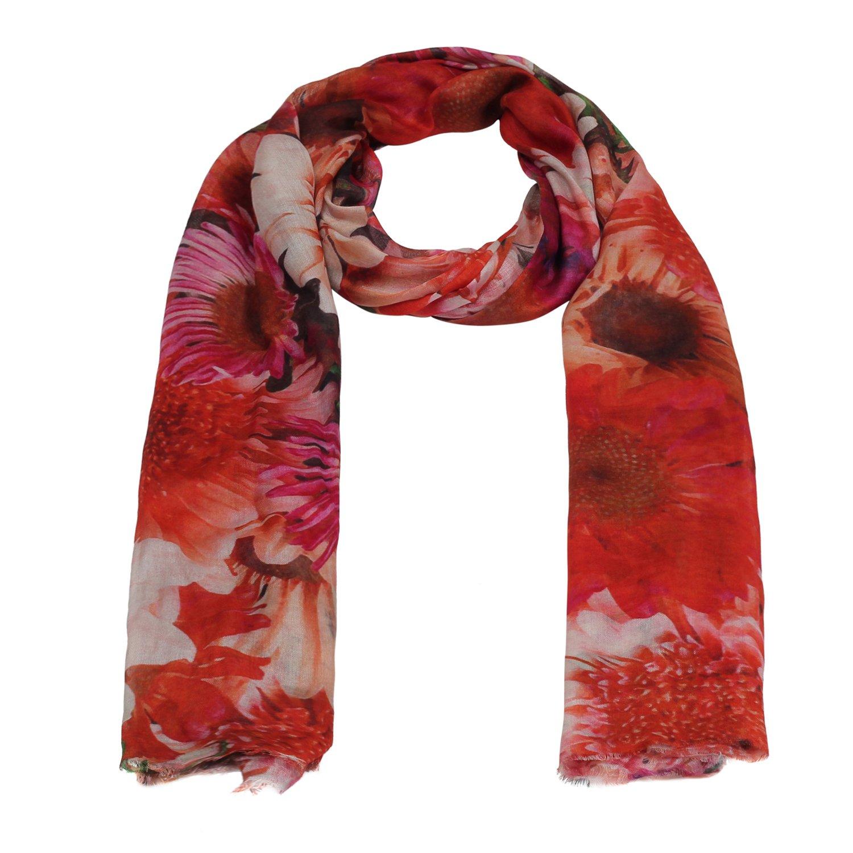 The Scarf Hut Lady Fashion Accessories Micro-modal Multicolor Floral Scarf