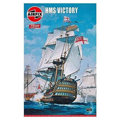 Airfix Vintage Classics HMS Victory 1765 1:180 Military Royal Naval Ship Plastic Model Kit A09252V: Toys & Games