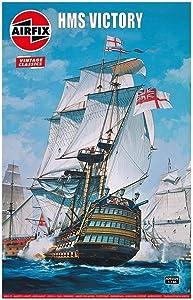 Airfix Vintage Classics HMS Victory 1765 1:180 Military Royal Naval Ship Plastic Model Kit A09252V