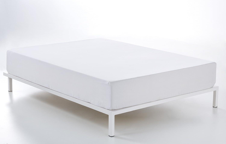 ES-TELA - Sábana bajera ajustable COMBI color Blanco - Alto especial (35 cm) - Cama de 150 cm. - 50% Algodón / 50% Poliéster - 144 Hilos: Amazon.es: Hogar