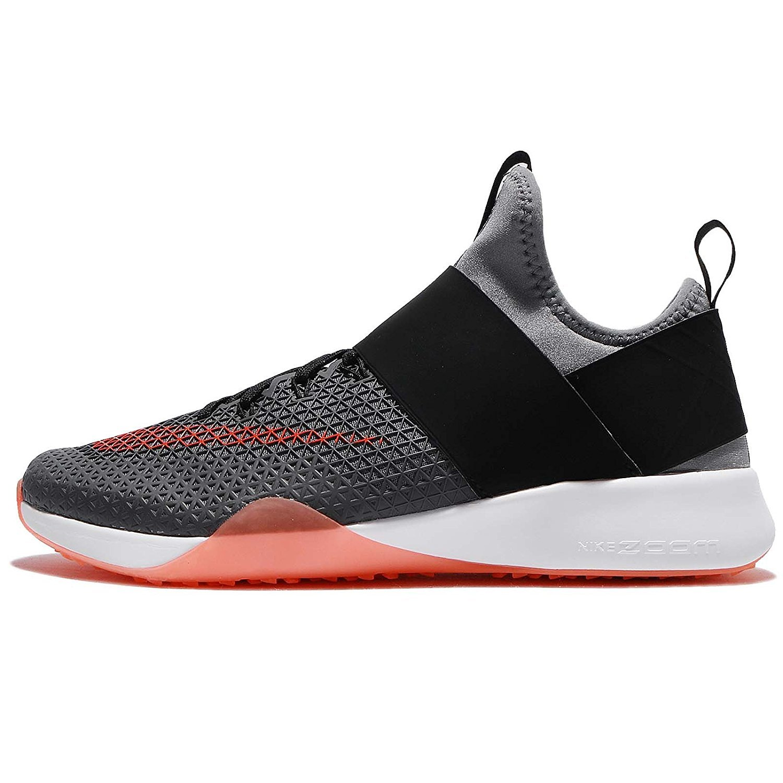 NIKE Women's Air Zoom Strong Running Shoes B01FTMABHU 8 B(M) US|Cool Grey/Total Crimson-black