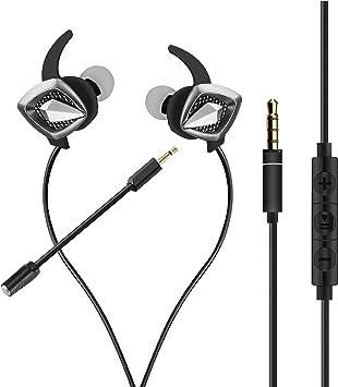 ShinePick Auriculares In-Ear Gaming, Cascos Gaming con Micrófono y Cable Sonido Estéreo Ergonómico Cancelación de Ruido, Compatible con PS4, Xbox One, PC, Laptop, Nintendo Switch, Tablet, Móvil: Amazon.es: Electrónica