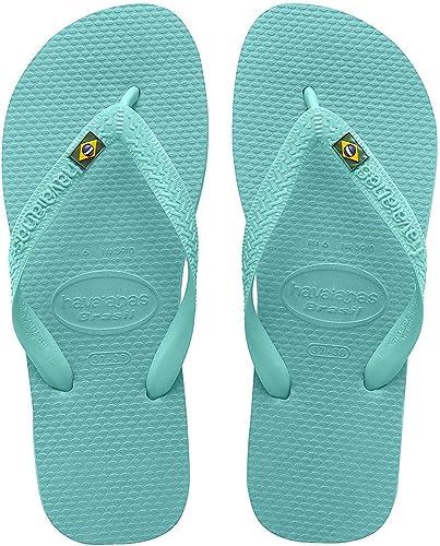 Havaianas Brasil sandalias chanclas para mujer, Verde (Verde (Lake Green)), 44 EU: Amazon.es: Zapatos y complementos