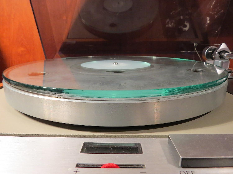 Cristal Tocadiscos Tocadiscos plato Mat: Amazon.es: Instrumentos ...