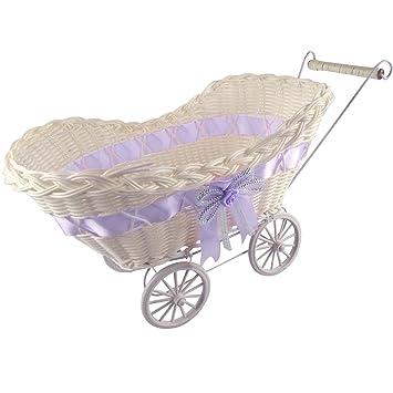 Mini cochecito bebé Cestas y favorece. Cesta de ducha carrito Vintage Craft: Amazon.es: Jardín