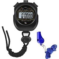 AIOIA Stopwatch, Sport Stopwatch Timer,Digitale Stopwatch Timer met fluitje Waterdicht voor Fitness,Hardlopen, Basketbal…
