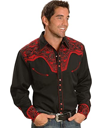 d1e052da31d Scully Men s and Embroidery Retro Western Shirt - P-634 Tom at ...