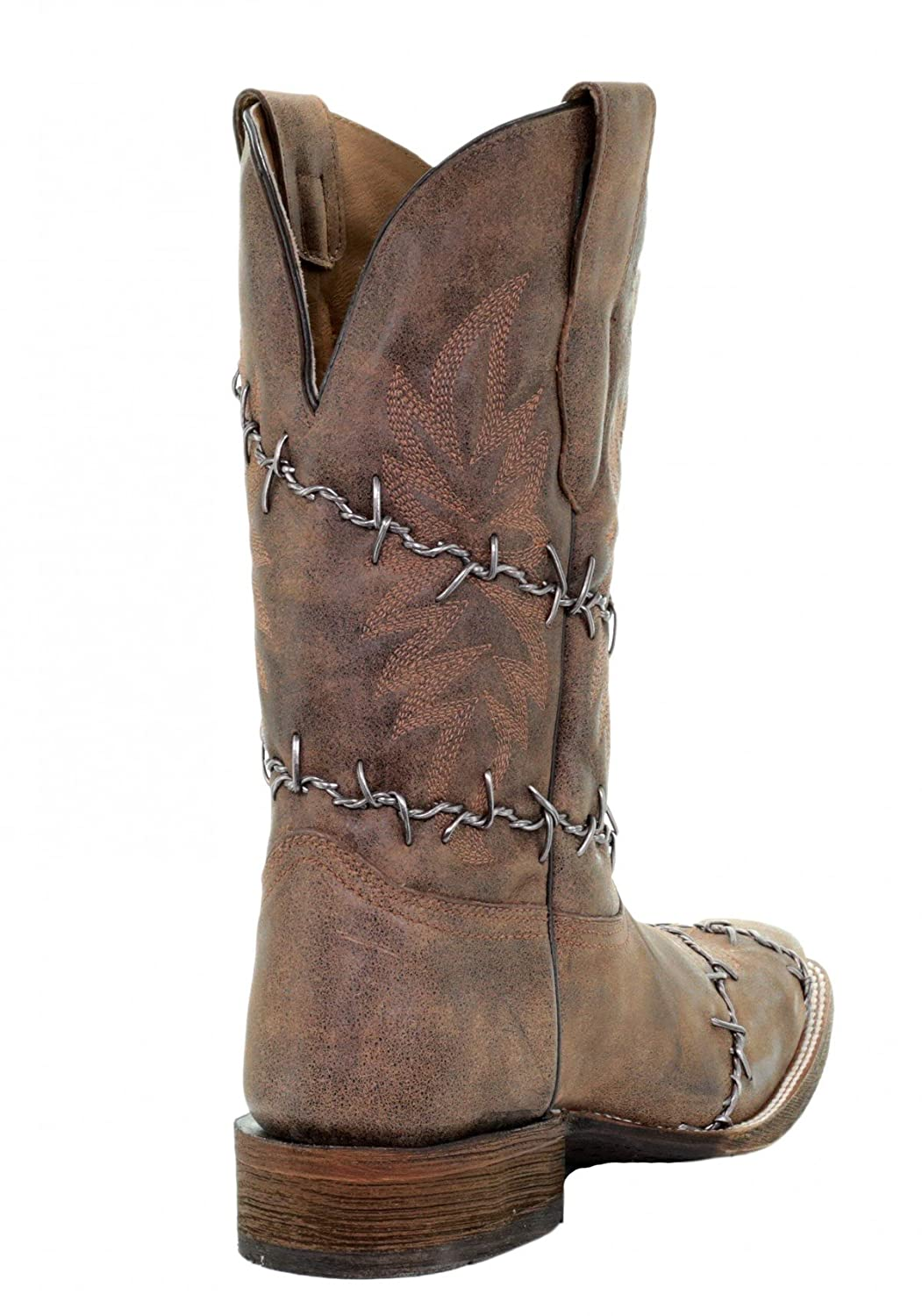 22a73687ced CORRAL A3532 Men's Barbed Wire Woven Square Toe Boots