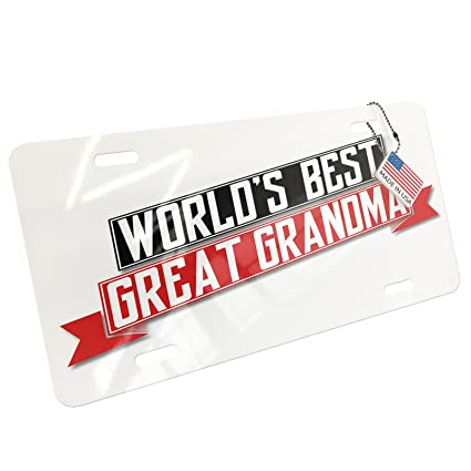 Worlds Greatest Nana Metal License Plate