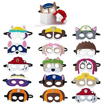 MIANRUII Paw Dog Patrol Masks Party Supplies for Kid (16 ...