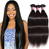 Nadula 6A Brazilian Remy Virgin Human Hair Straight Weave Pack of 4 Unprocessed Silkey Straight Hair Extensions Natural Color