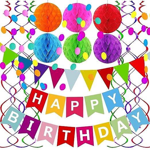 Fecedy Colorido Alfabeto Feliz cumpleaños Cartel para niños ...