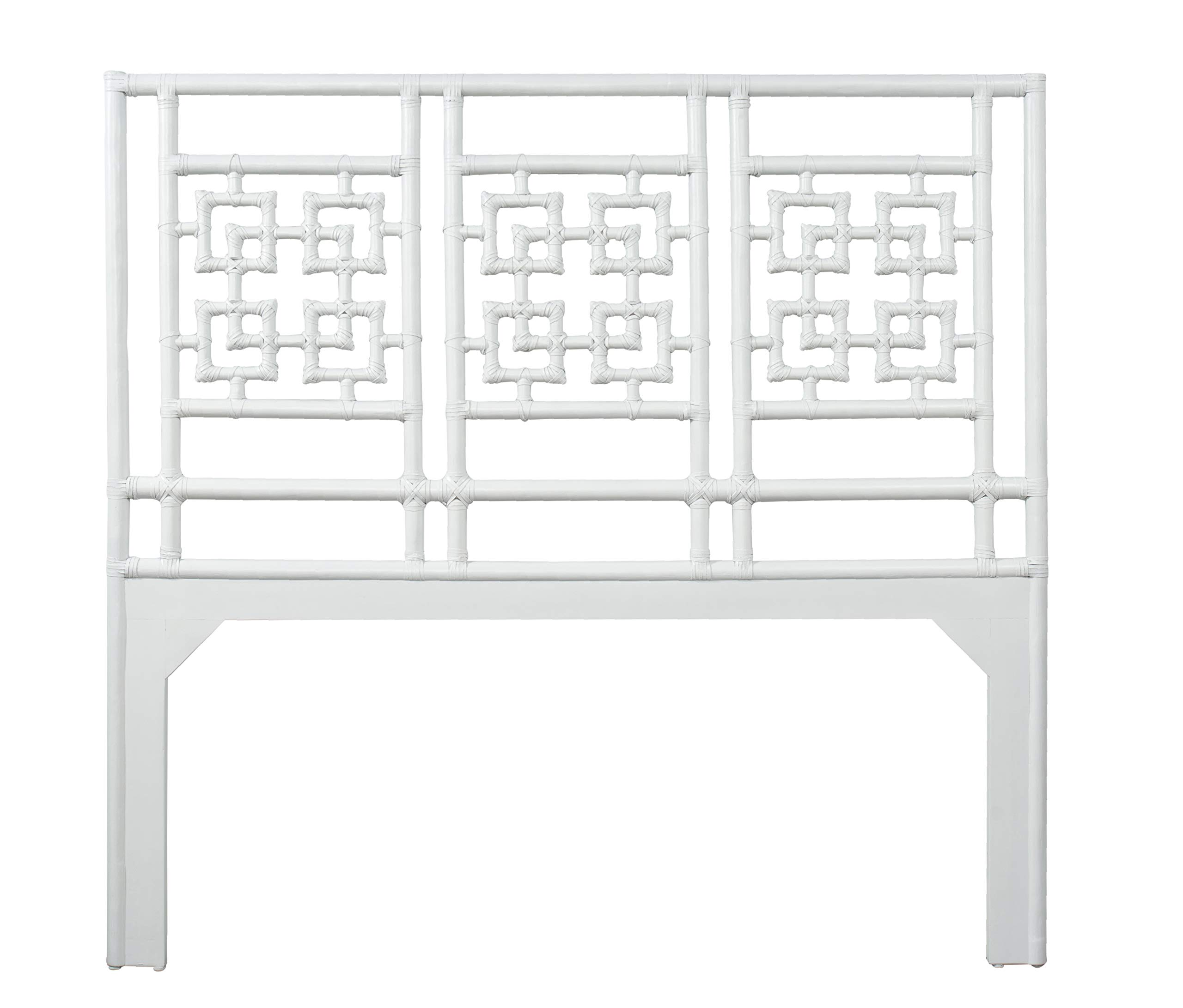 Inspired by David Francis Palm Springs Headboard Queen White by Inspired by David Francis