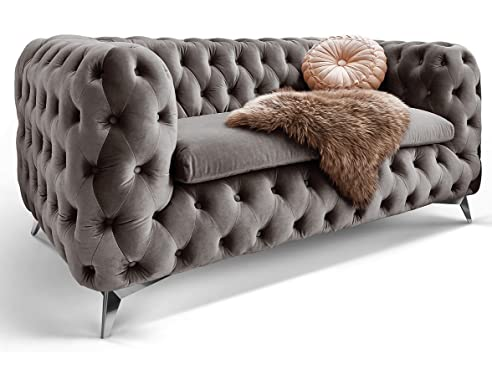 Chesterfield sofa stoff  Chesterfield Sofa Couch Stoff Samt 3 Sitzer 2 Sitzer Sessel 1 ...