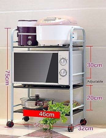Amazon De Kuchenregale Organizer Zxldp Metall Mikrowelle Ofen Rack