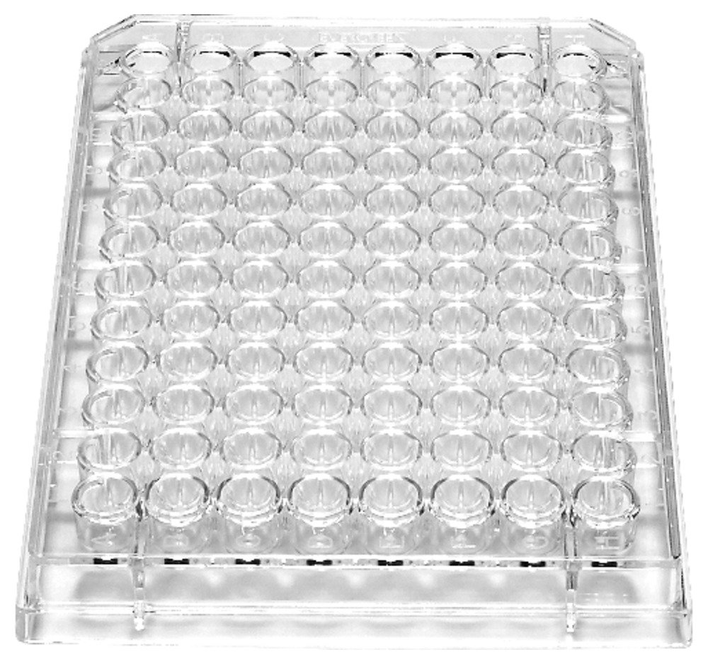 Caplugs Evergreen 222-8051-V1K Sterile 96-Well Microplates with Conical (V) Bottoms. Polystyrene, Natural, Box pack (Pack of 100)