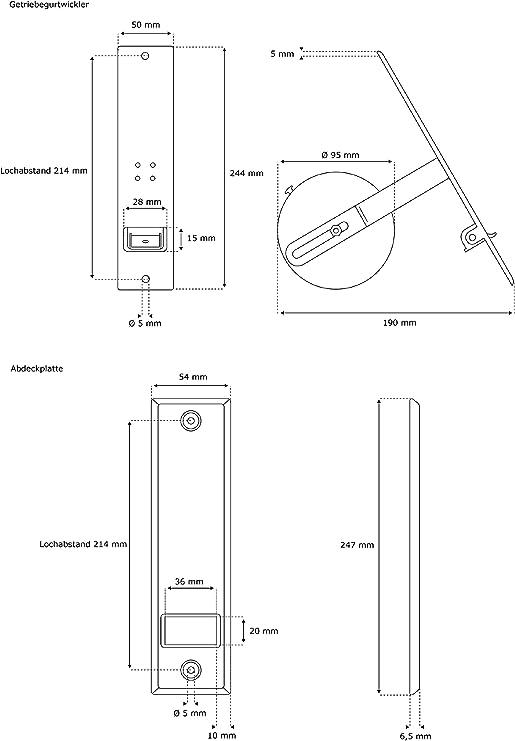 Ouverture Enrouleur de Ceinture Volets Roulants 3,5-15 M Distance Inter-Trous