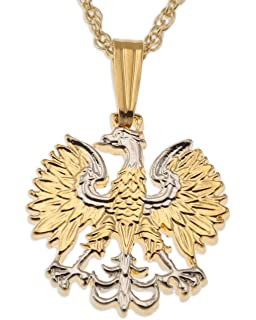 Polish eagle pendant necklace poland 10 zlotych hand cut coin polish eagle pendant necklace poland 20 zlotych hand cut coin mozeypictures Images