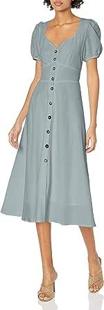 ASTR the label Women's Puff Sleeve Pippa Button Down MIDI Dress