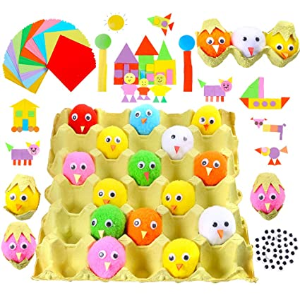 Amazon Com Caydo 15 Pieces 2 Inch Easter Chenille Chicks Easter Egg