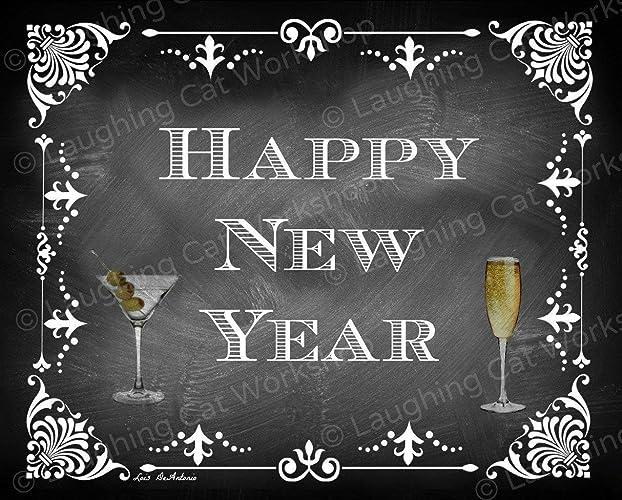 Amazon.com New Years Decor Happy New Year Wall Art New