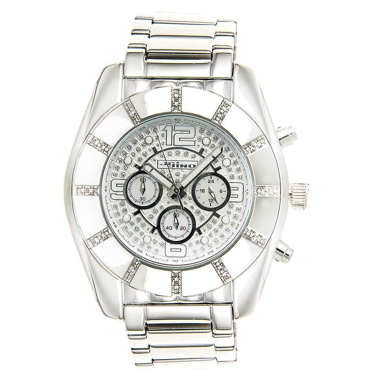 Jojino Royal mj-1216. 53.50 mm. Rund. Herren Diamant Uhr. (weiß)