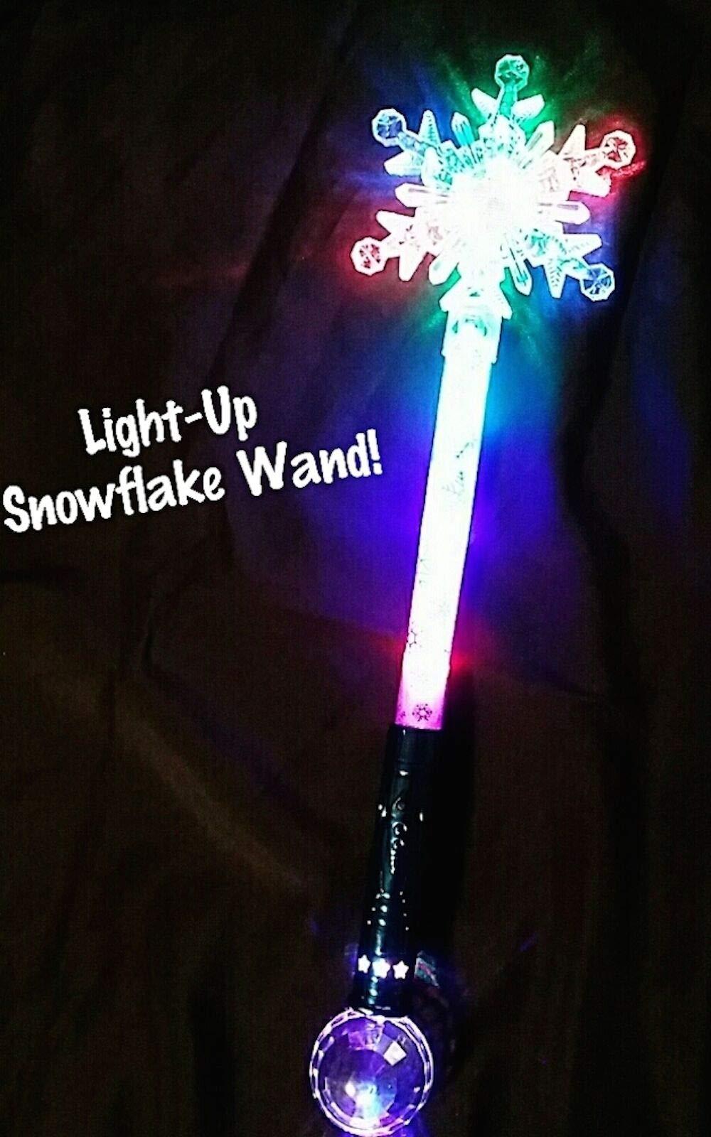 Lonestar Wholesalers 21'' LED Light Up Flashing Snow Queen's Flake Wand by Lonestar Wholesalers