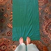 Amazon Com Gaiam No Slip Yoga Mat Towel Citron Storm