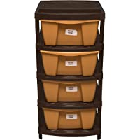 Veer Multipurpose Plastic Modular 4 Drawer System, Chest Storage Organizer Set