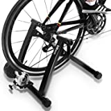 DRMOIS Bike Trainer Stand – Portable Stainless Steel Indoor Exercise Bicycle Trainer Magnetic Flywheel, Stationary Bike…