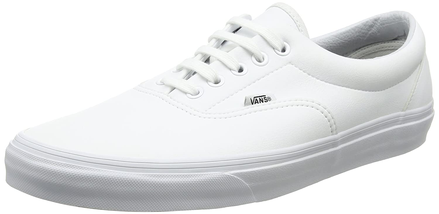 Vans Unisex Era Skate Shoes, Classic Low-Top Lace-up Style and in Durable Double-Stitched Canvas and Style Original Waffle Outsole B01N4BXJSF 6 M US Women / 4.5 M US Men|True White d8578c