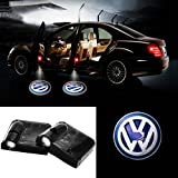 2PCS Universal Wireless Car Projection LED Projector Door Shadow Light Welcome Light Laser Emblem Logo Lamps Kit for VOLKSWAGEN VW Jetta (VW Special)