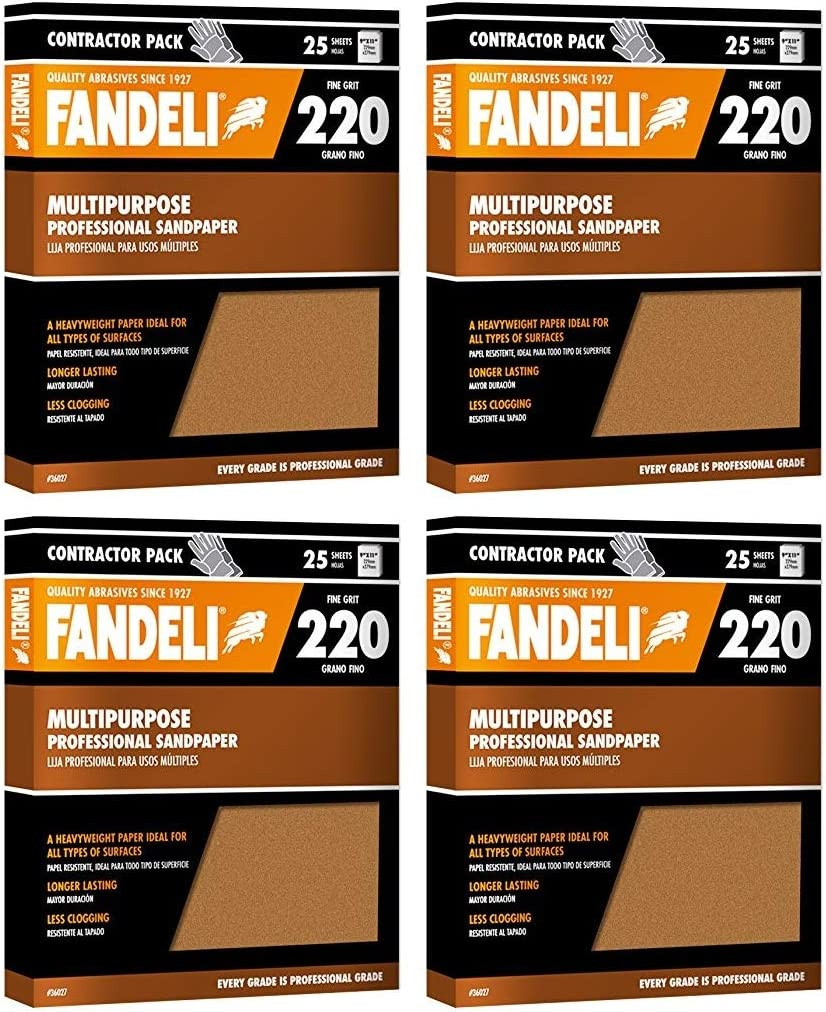 25-Sheet 9  x 11 Fandeli 36021 060 Grit Multipurpose Sandpaper Sheets