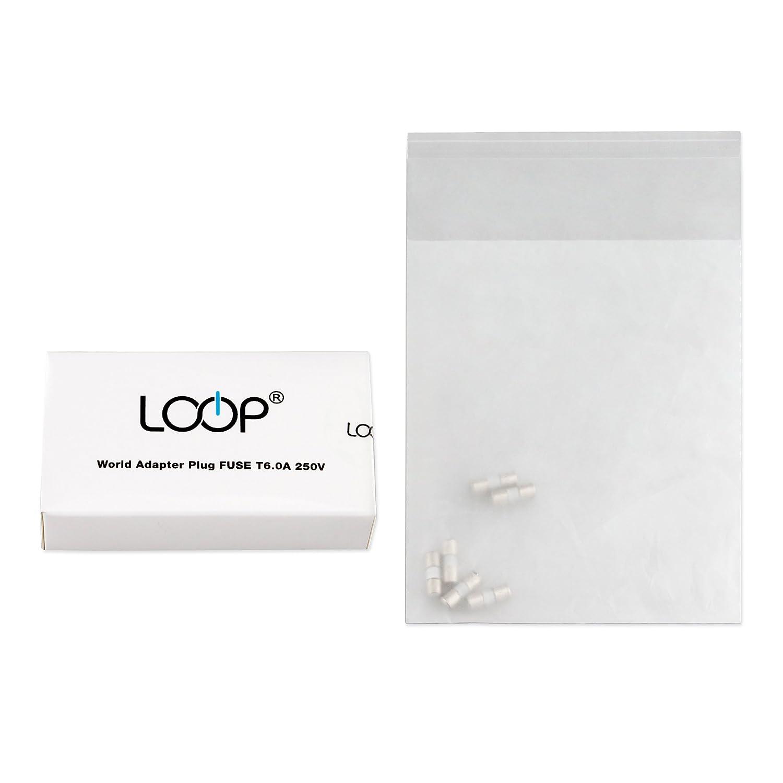 amazon com loop original replacement fuses 250v t6 0a 6 pack rh amazon com