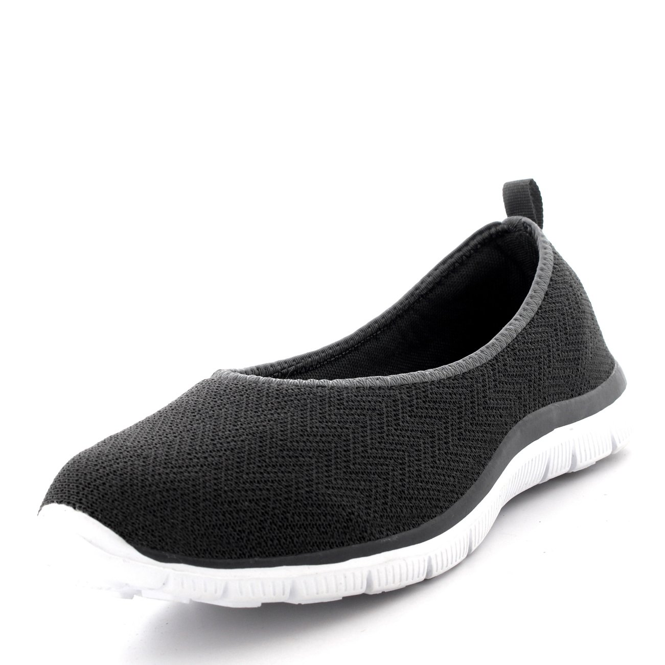 the latest 96c68 87452 Womens Ballerina Fitness Yoga Walking Running Sports Gym Lightweight Mesh  Trainers  Amazon.co.uk  Shoes   Bags