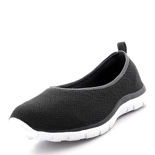 Mujer Bailarina Aptitud Yoga para Caminar Corriendo Deportes Gimnasio Ligero Malla Zapatillas: Amazon.es: Zapatos y complementos