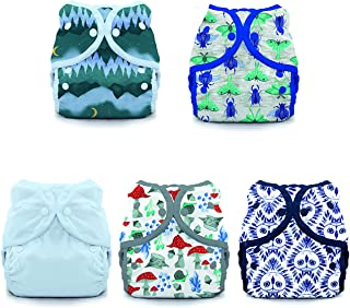 product image for Thirsties Nature's Canopy Cloth Diaper Collection Package, Snap Duo Wrap Cloth Diaper Cover, Nature's Canopy Size 1