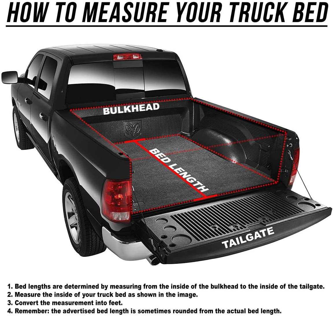 Lock Soft Roll Up Tonneau Tonno Cover For 03-18 Dodge Ram 2500//3500 8ft Long Bed