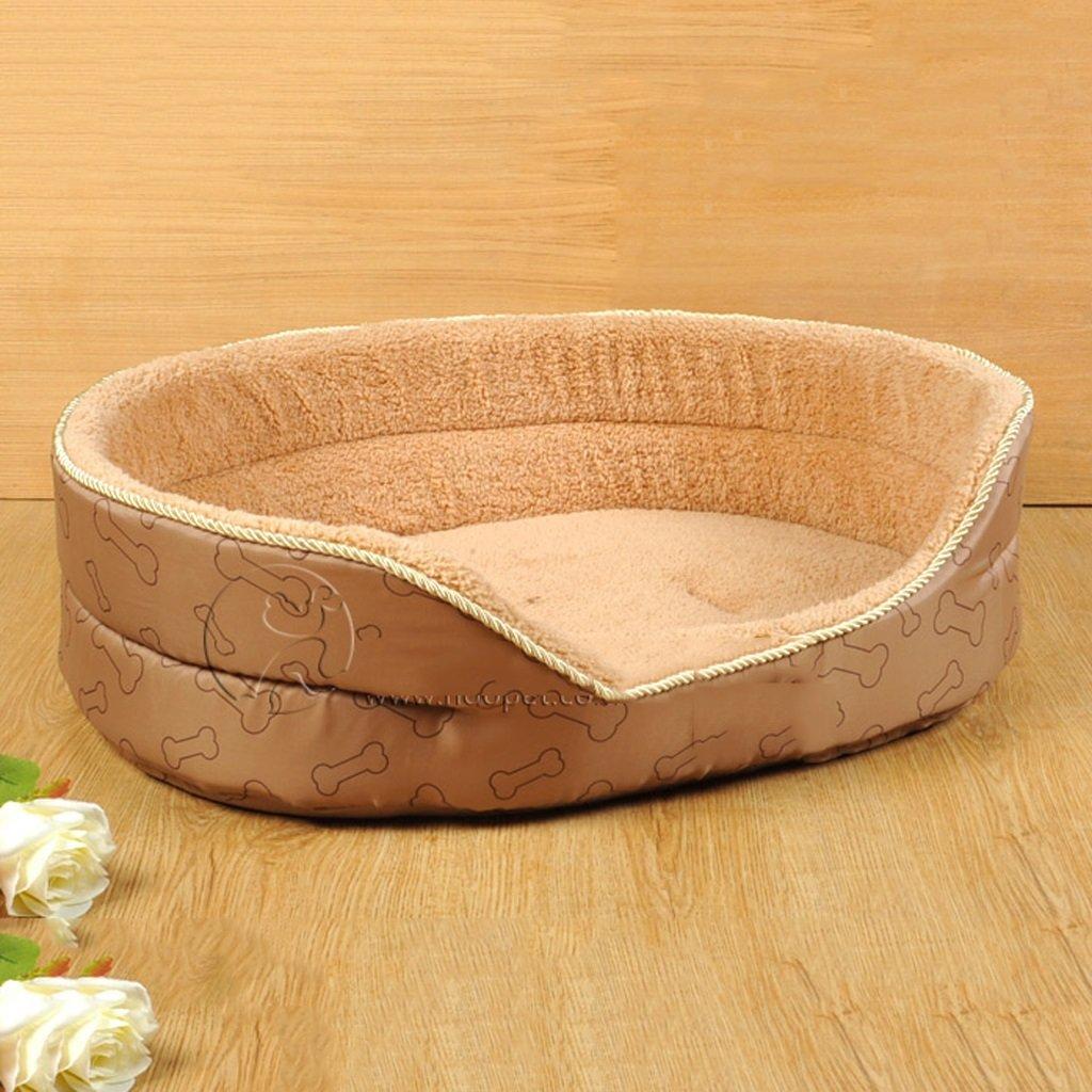 S.58x40x25cm Jlxl Pet Bed Pet Nest Dog Nest Washable orange Heart Story Pet Nest Cat Teddy Pet Bed Pet Products (Size   S.58x40x25cm)