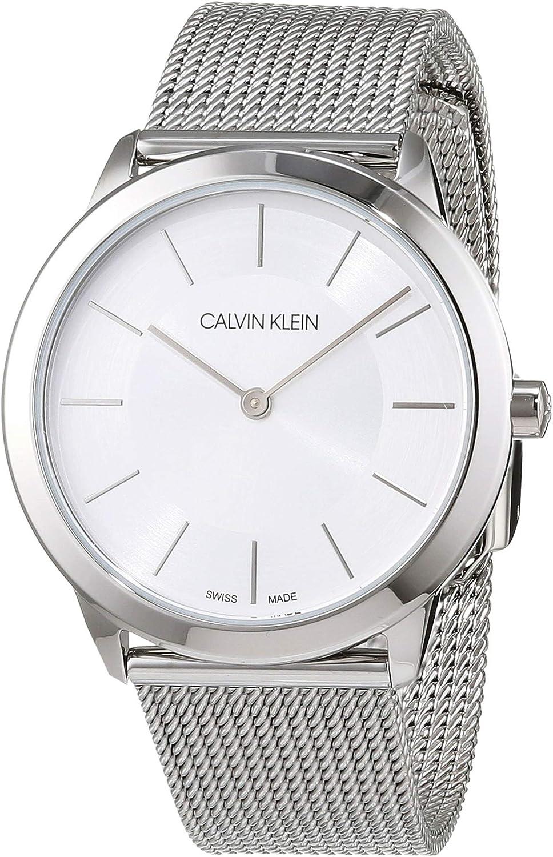Calvin Klein Reloj Analógico de Cuarzo para Mujer con Correa de Acero Inoxidable – K3M22126