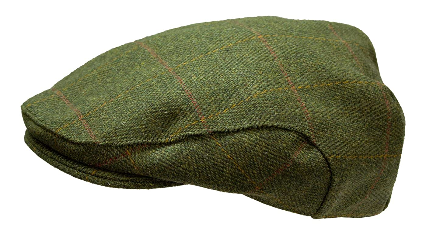 Duke and Twig Mens Derby Tweed Flat Cap Hat WWK