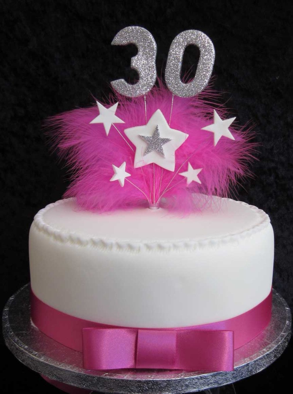 Pleasing 30Th Birthday Cake Topper With Silver Glittered Numbers And Hot Funny Birthday Cards Online Overcheapnameinfo