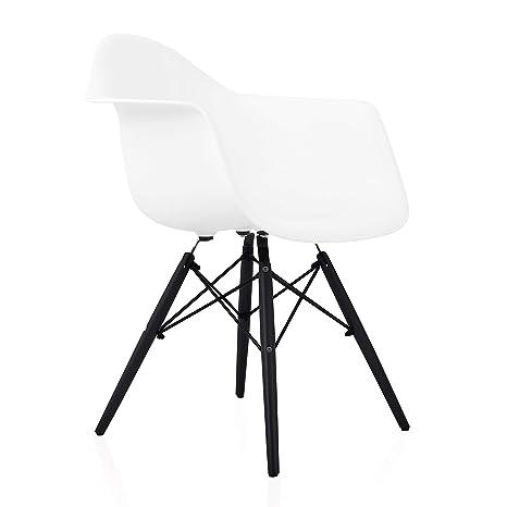 Groovy Amazon Com Cozyblock Eames Style Daw Scandinavian White Theyellowbook Wood Chair Design Ideas Theyellowbookinfo
