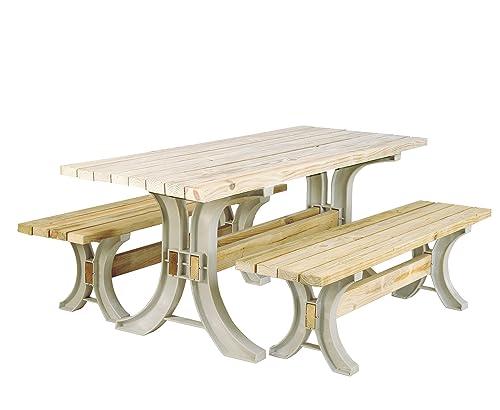 2x4basics 90182ONLMI Custom Picnic Table Kit, Sand