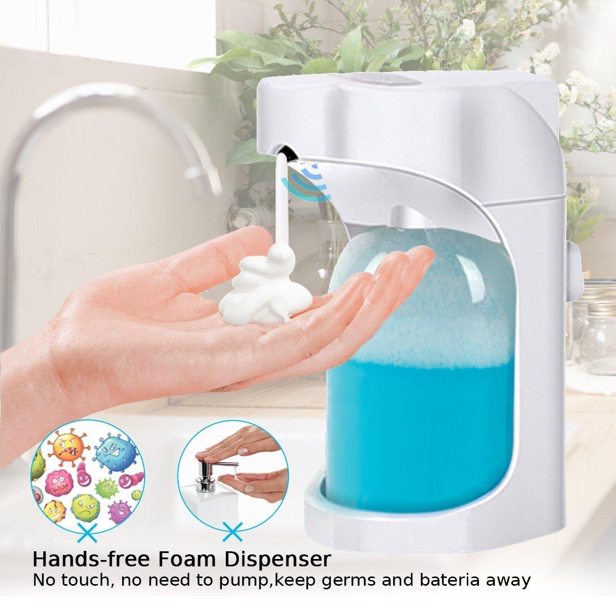 bagno Lantoo touchless attivazione con controllo regolabile in schiuma 500 ml capacit/¨/¤ per cucina Dispenser automatico per sapone