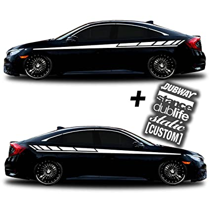 Sg motiv vinyl body side graphics racing stripes car truck sticker decal universal 005 decals
