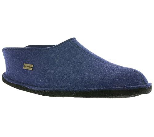 f1b7947428e8 Haflinger Men s Flair Smily Open Back Slippers  Amazon.co.uk  Shoes ...