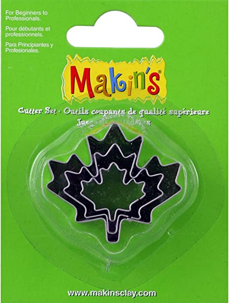 Makins USA Clay Cutters 3//Pkg-Maple Leaf