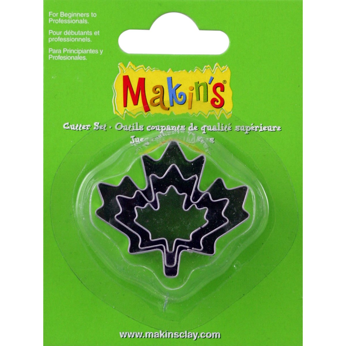 Makin's USA Makin's Clay Cutters 3/Pkg-Maple Leaf Makin' s USA M360-29